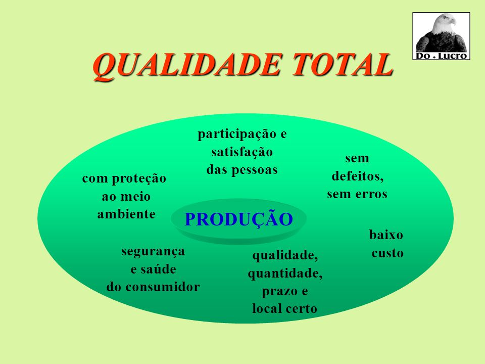 QUALIDADE TOTAL PRODUÇÃO participação e satisfação das pessoas sem