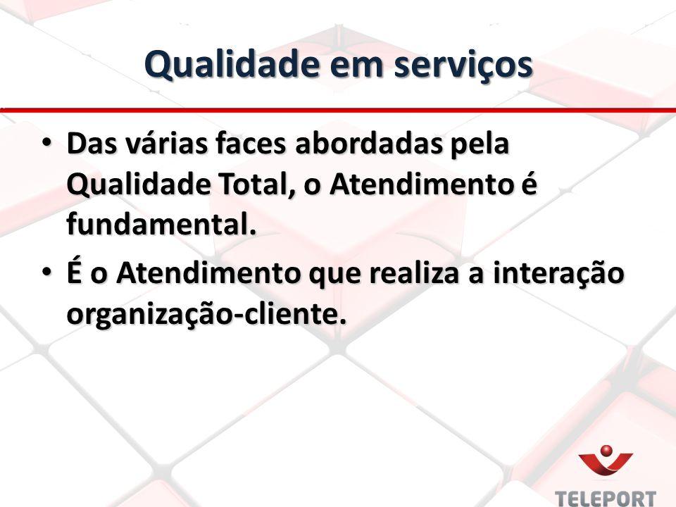 Qualidade em serviços Das várias faces abordadas pela Qualidade Total, o Atendimento é fundamental.