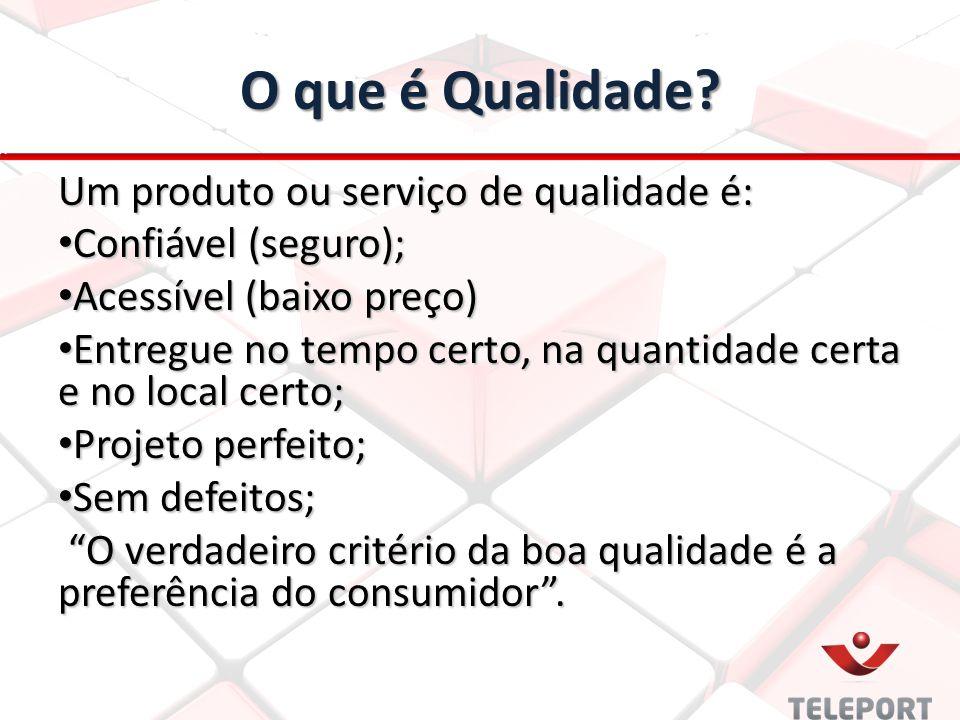 O que é Qualidade Um produto ou serviço de qualidade é: