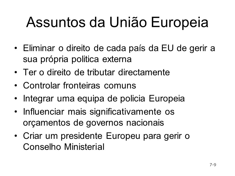 Assuntos da União Europeia