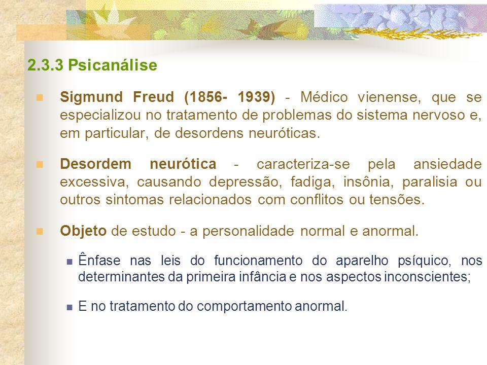 2.3.3 Psicanálise