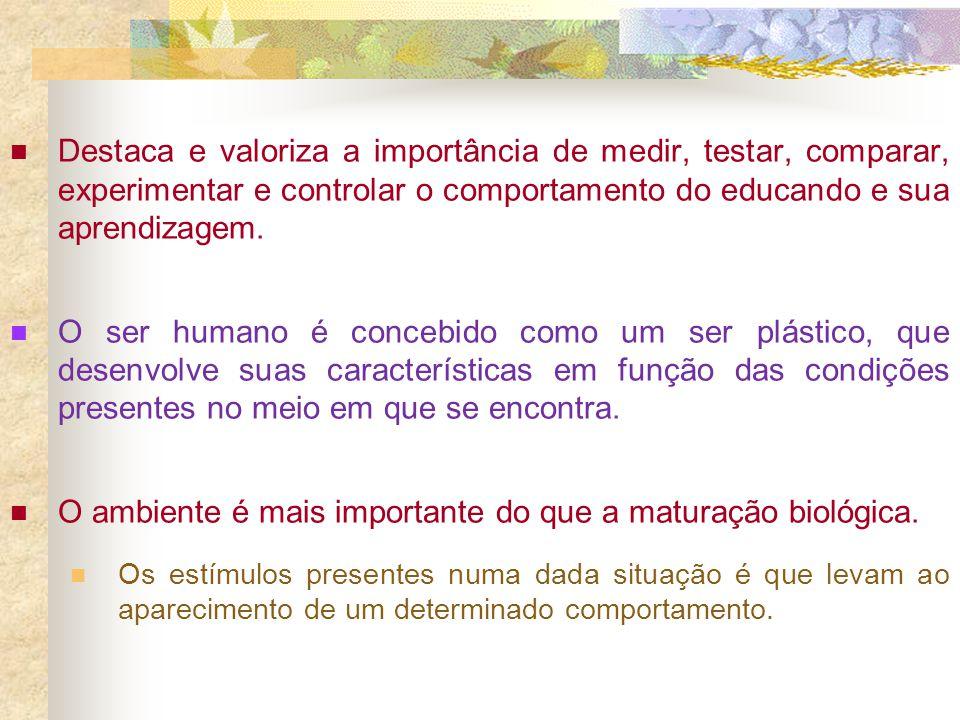 O ambiente é mais importante do que a maturação biológica.