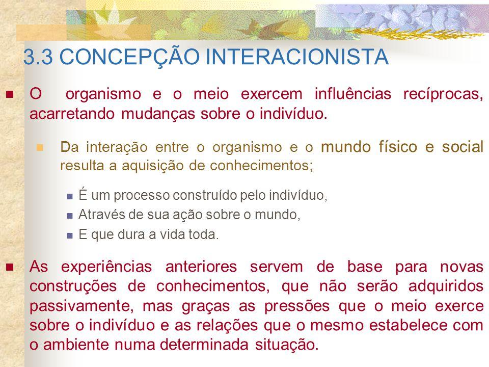3.3 CONCEPÇÃO INTERACIONISTA