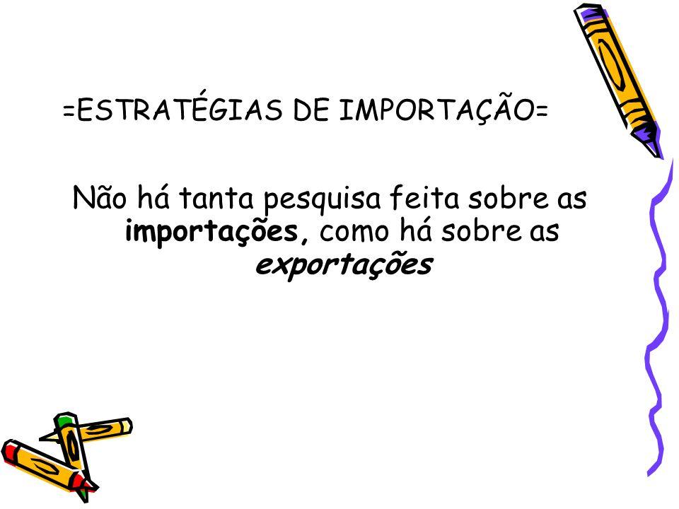 =ESTRATÉGIAS DE IMPORTAÇÃO=