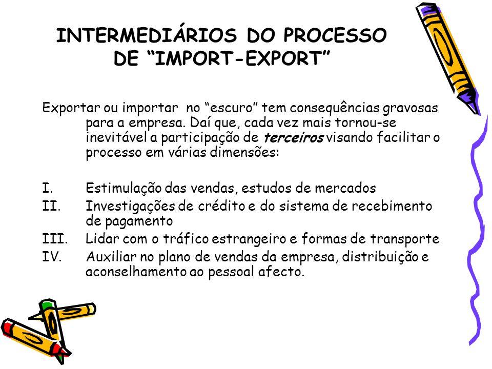 INTERMEDIÁRIOS DO PROCESSO DE IMPORT-EXPORT