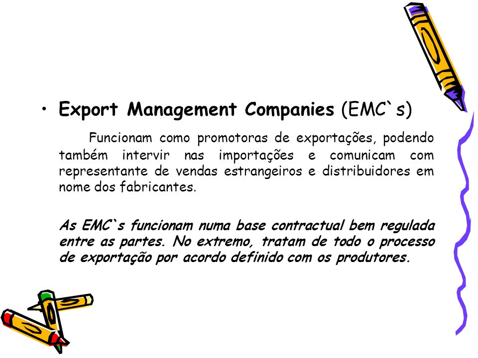 Export Management Companies (EMC`s)