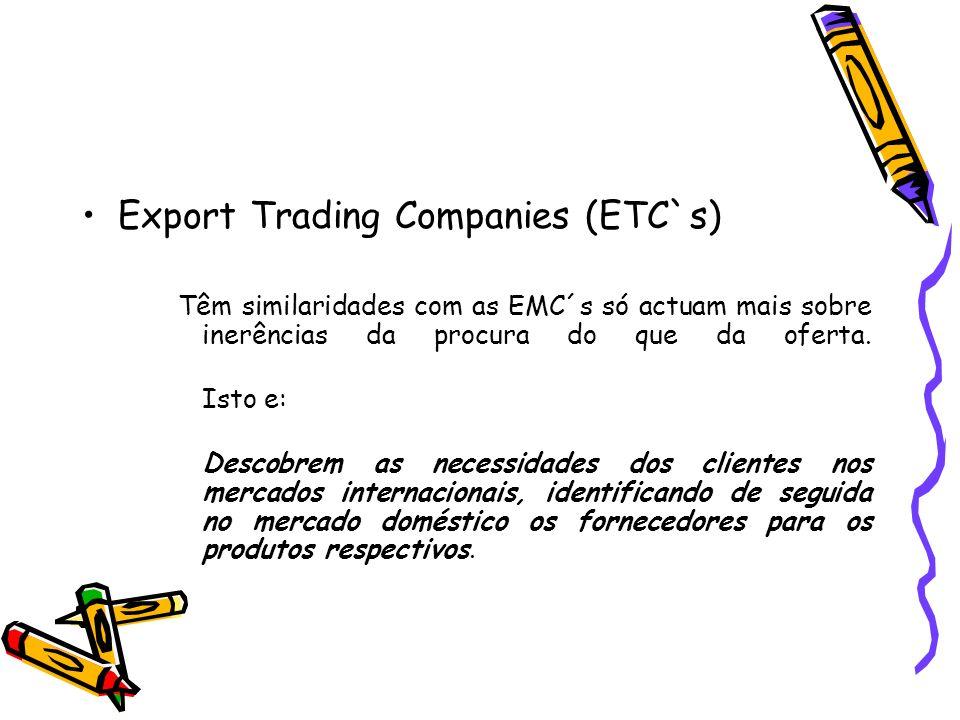 Export Trading Companies (ETC`s)