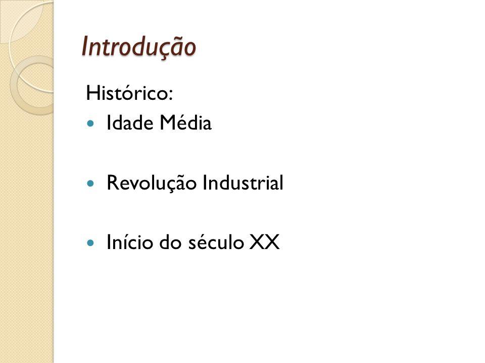 Introdução Histórico: Idade Média Revolução Industrial