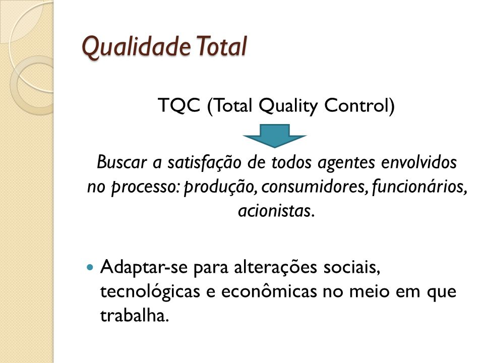 TQC (Total Quality Control)