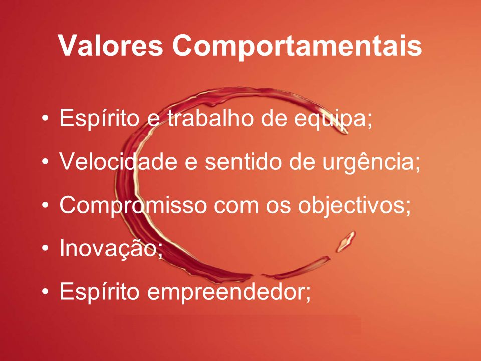 Valores Comportamentais