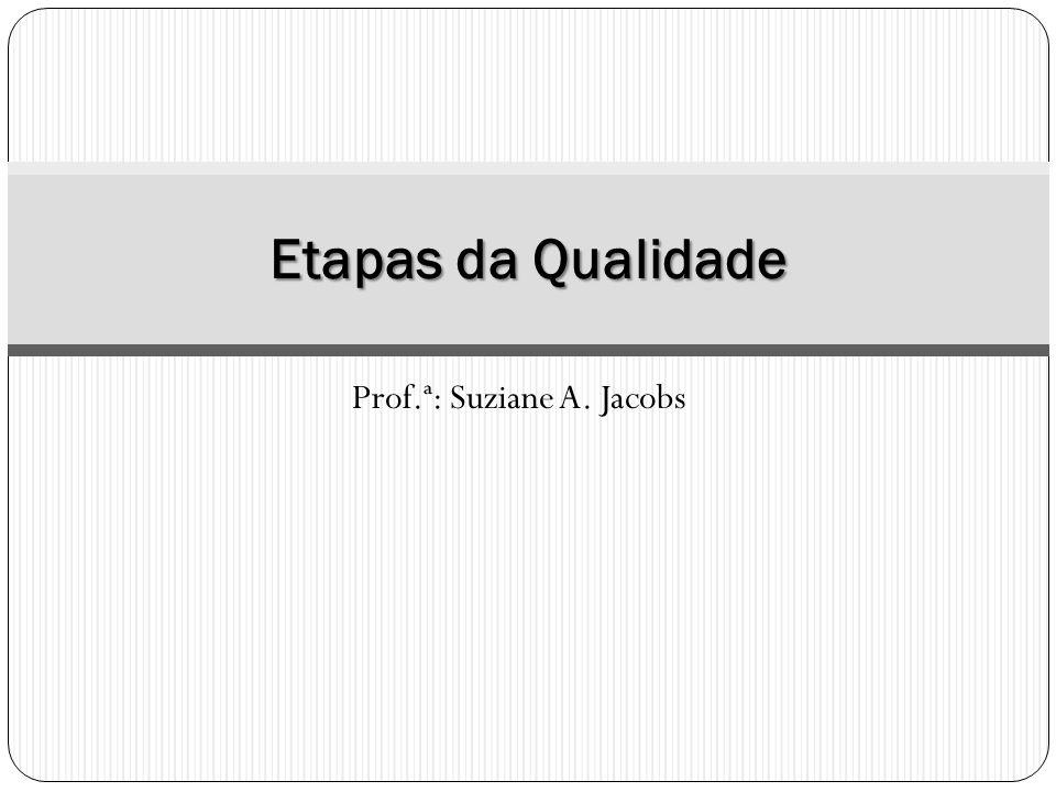 Prof.ª: Suziane A. Jacobs