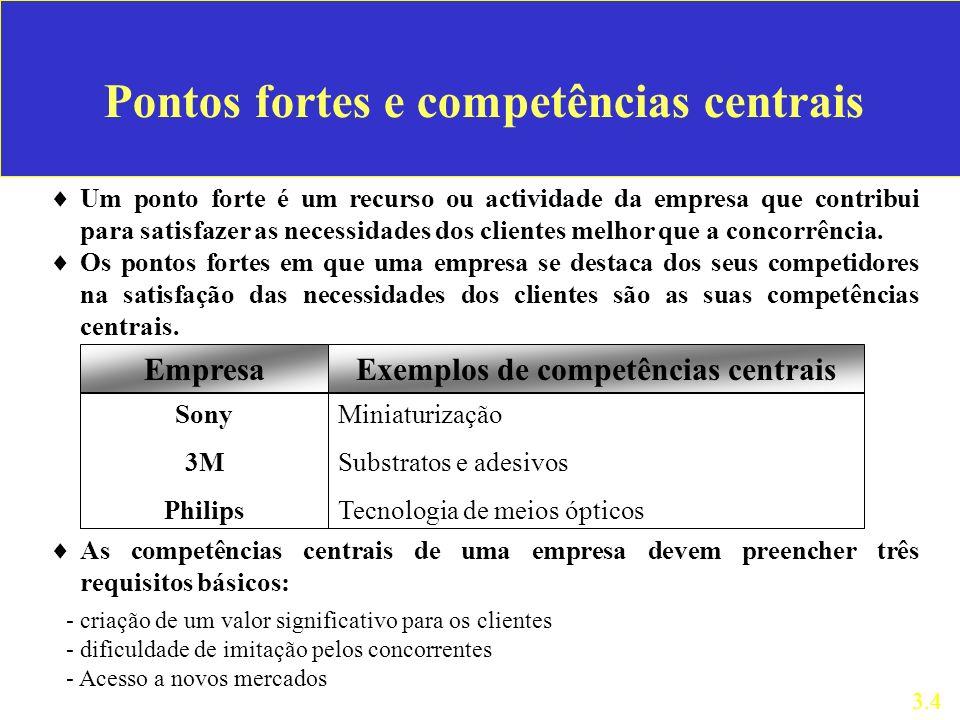 Pontos fortes e competências centrais