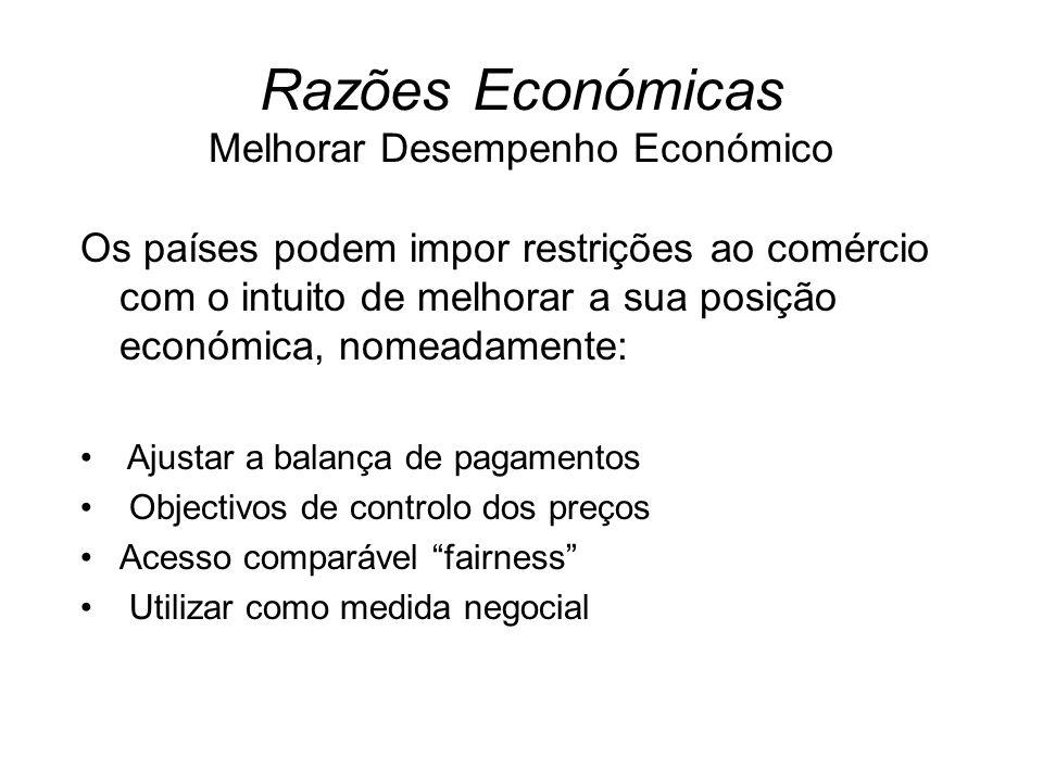 Razões Económicas Melhorar Desempenho Económico