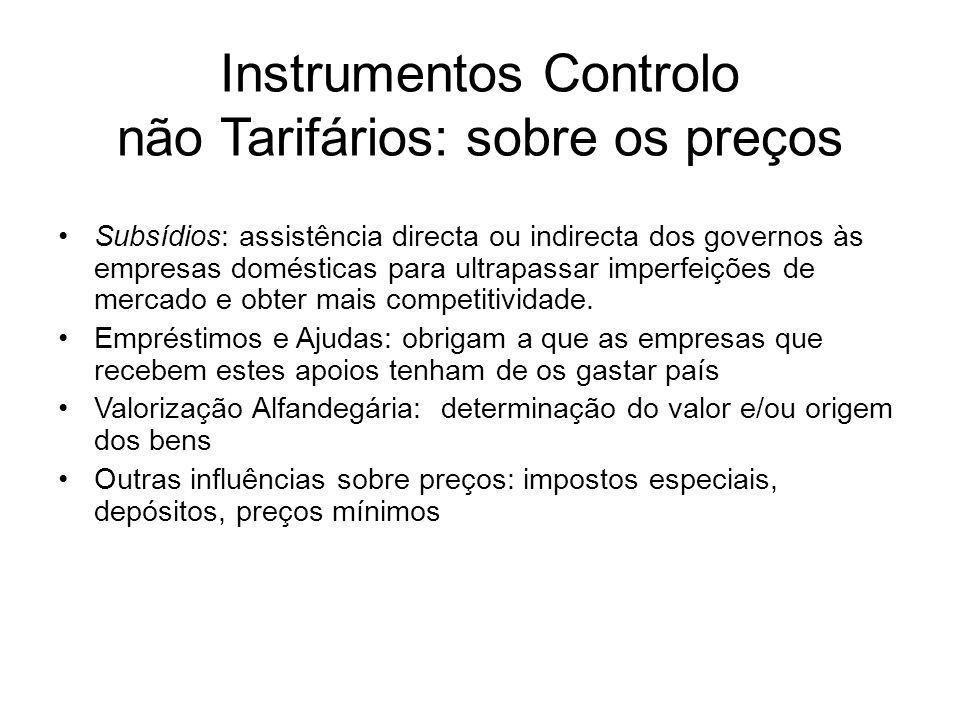 Instrumentos Controlo não Tarifários: sobre os preços