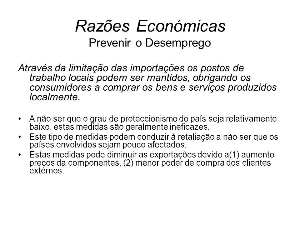 Razões Económicas Prevenir o Desemprego
