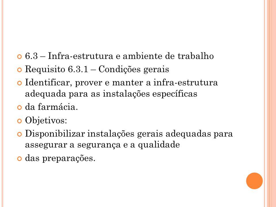 6.3 – Infra-estrutura e ambiente de trabalho
