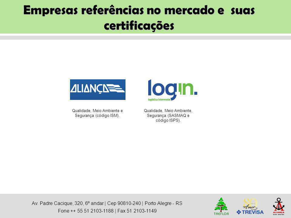 Empresas referências no mercado e suas certificações