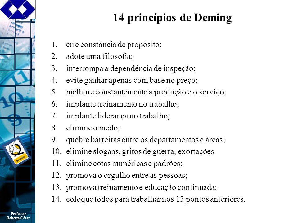 14 princípios de Deming crie constância de propósito;