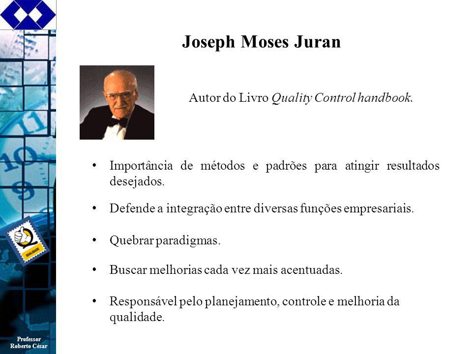 Joseph Moses Juran Autor do Livro Quality Control handbook.