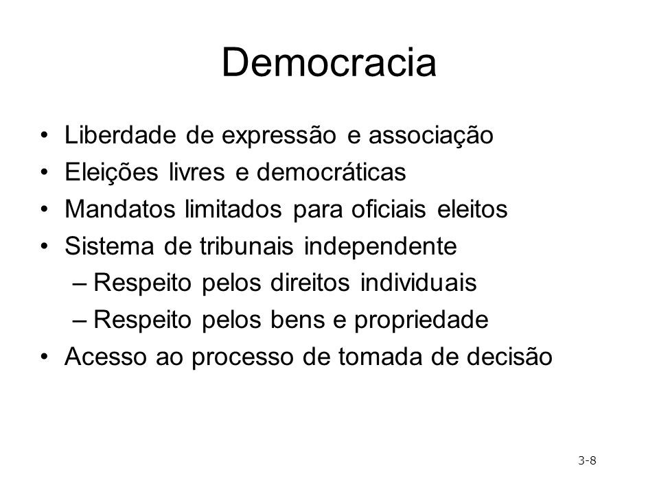 Democracia Liberdade de expressão e associação