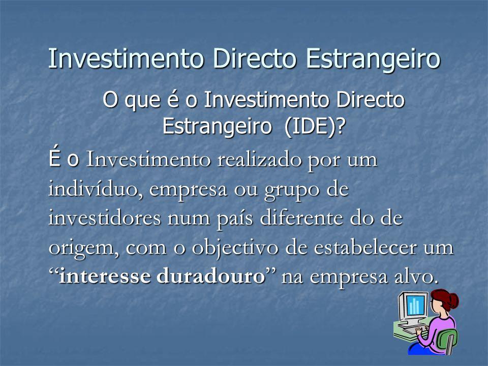 Investimento Directo Estrangeiro