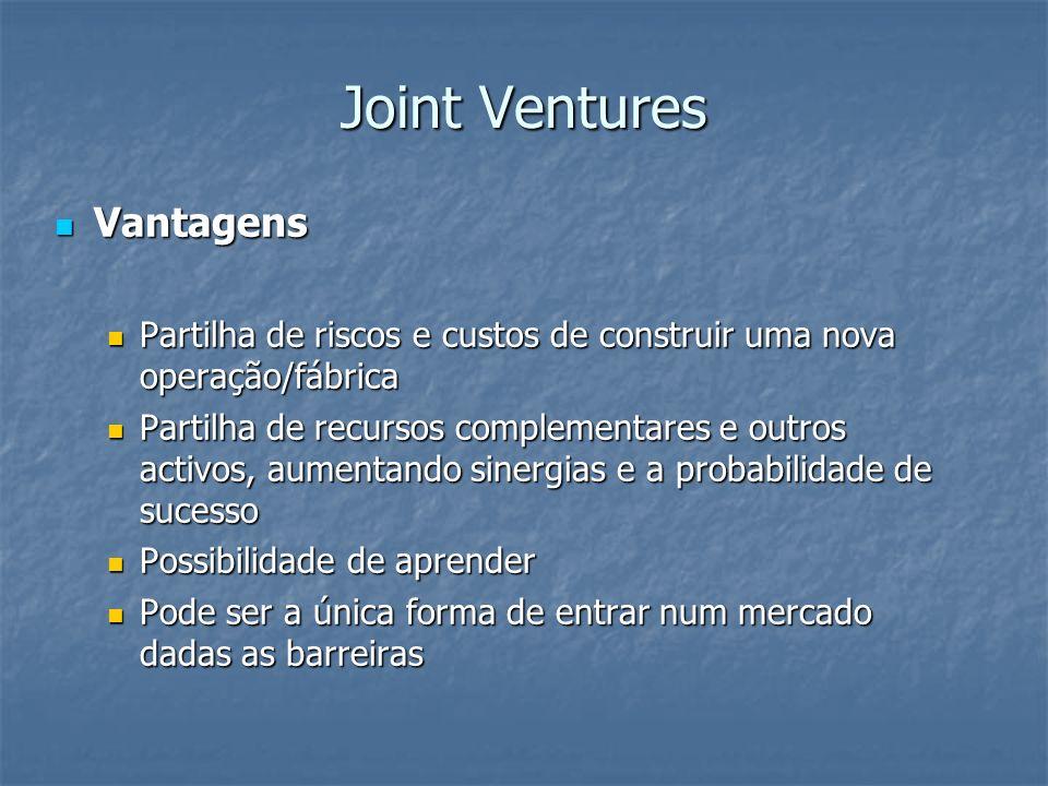 Joint Ventures Vantagens