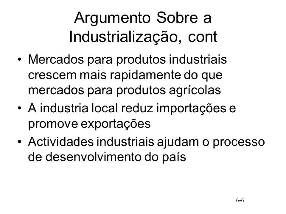 Argumento Sobre a Industrialização, cont