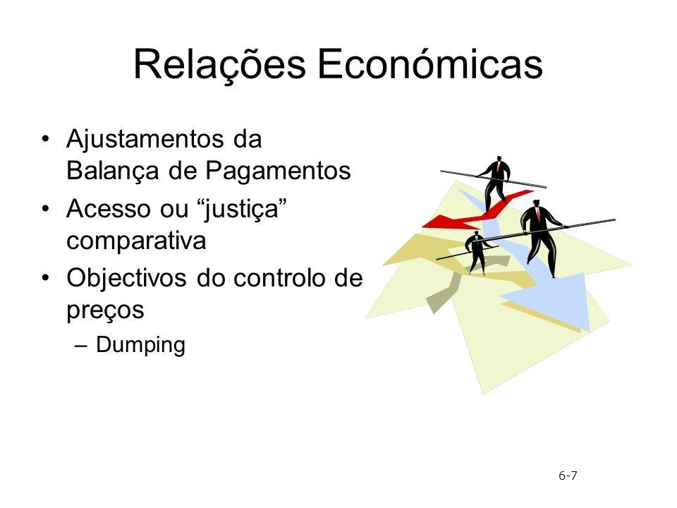 Relações Económicas Ajustamentos da Balança de Pagamentos