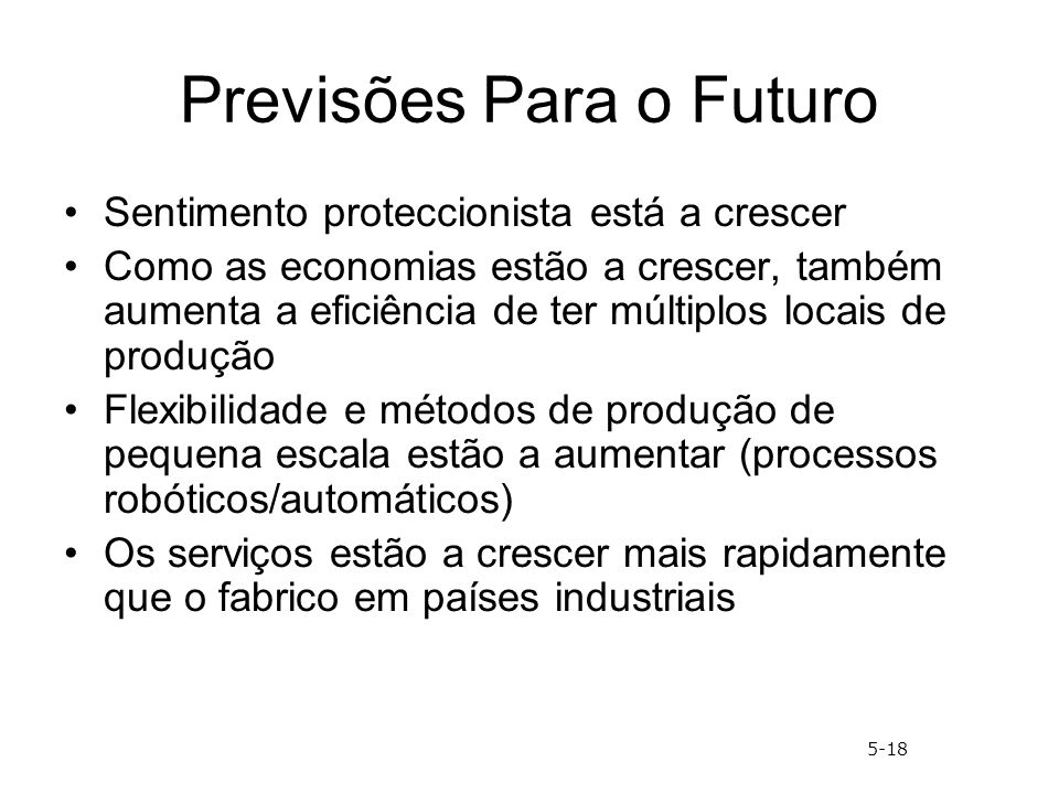 Previsões Para o Futuro