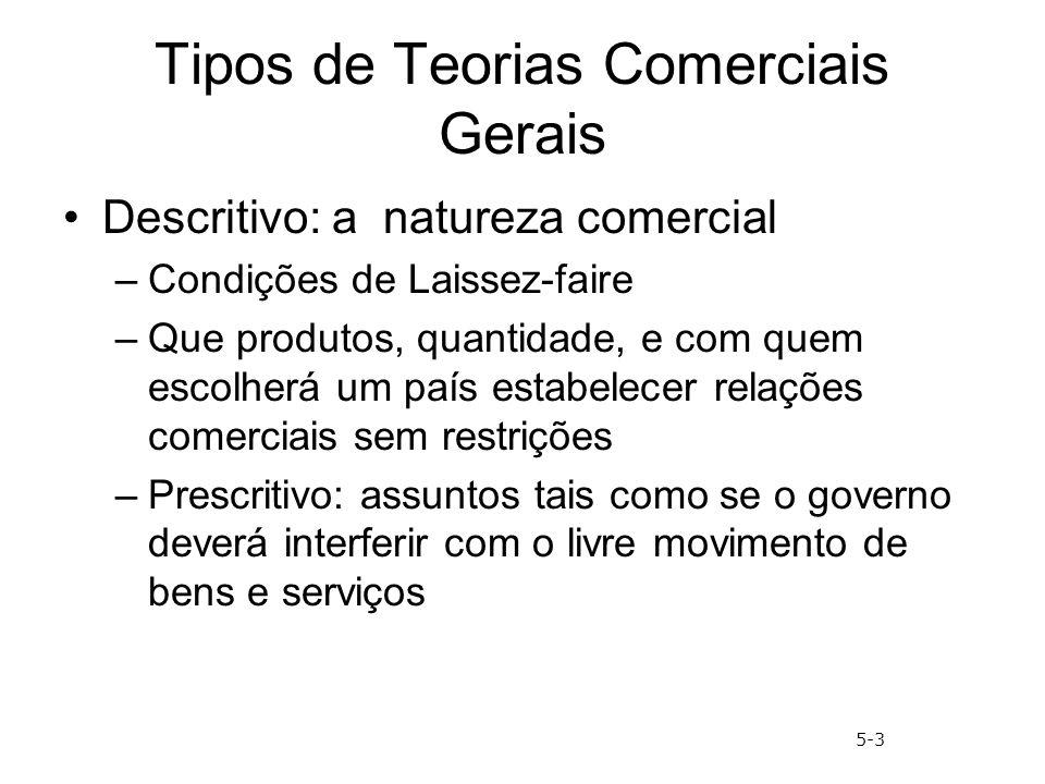 Tipos de Teorias Comerciais Gerais