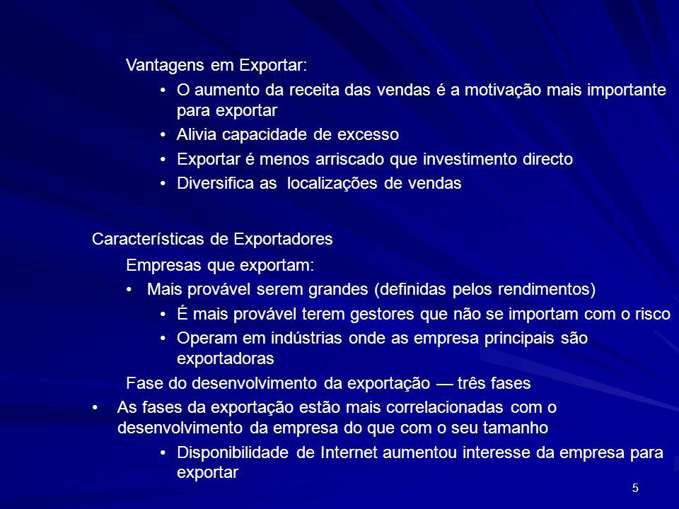 Vantagens em Exportar: