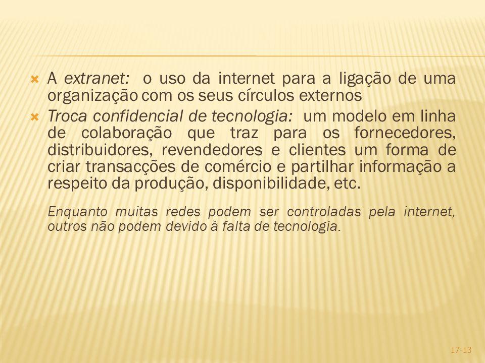 A extranet: o uso da internet para a ligação de uma organização com os seus círculos externos