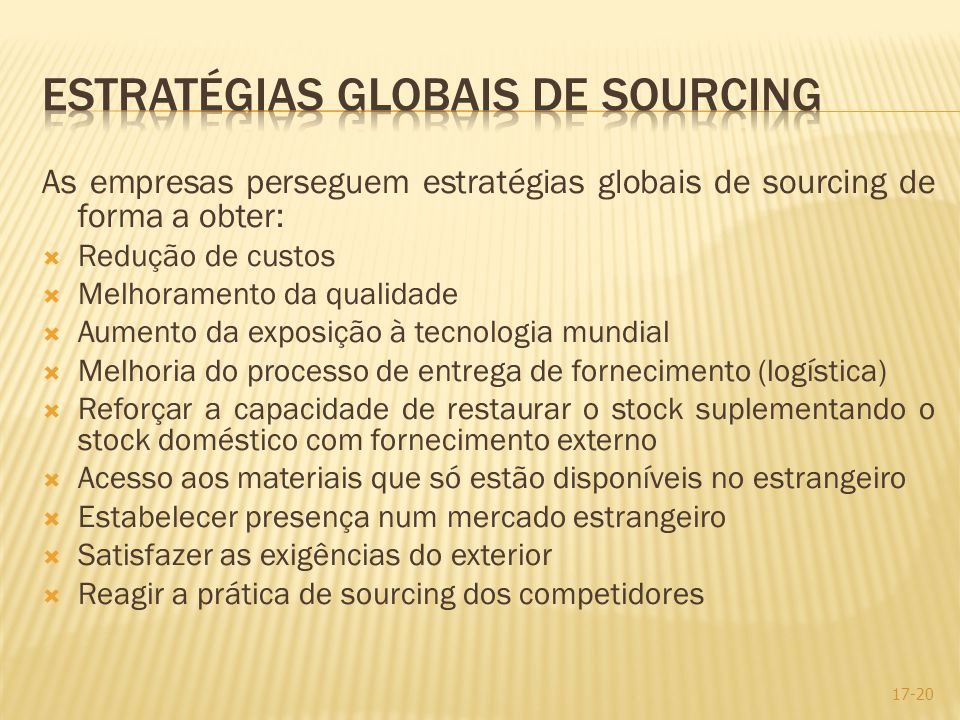 Estratégias globais de sourcing