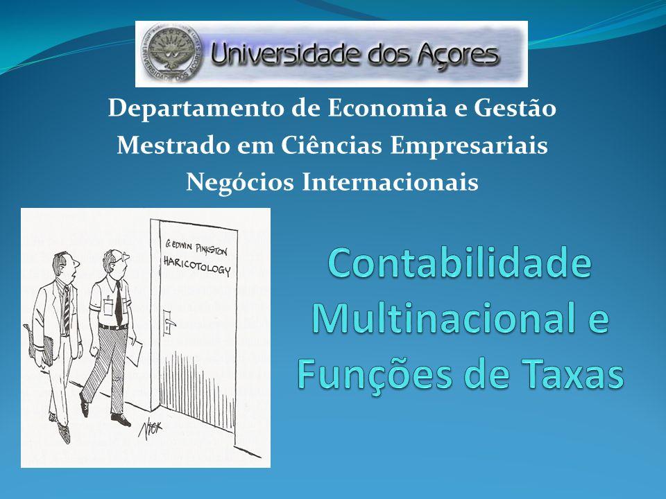 Contabilidade Multinacional e Funções de Taxas