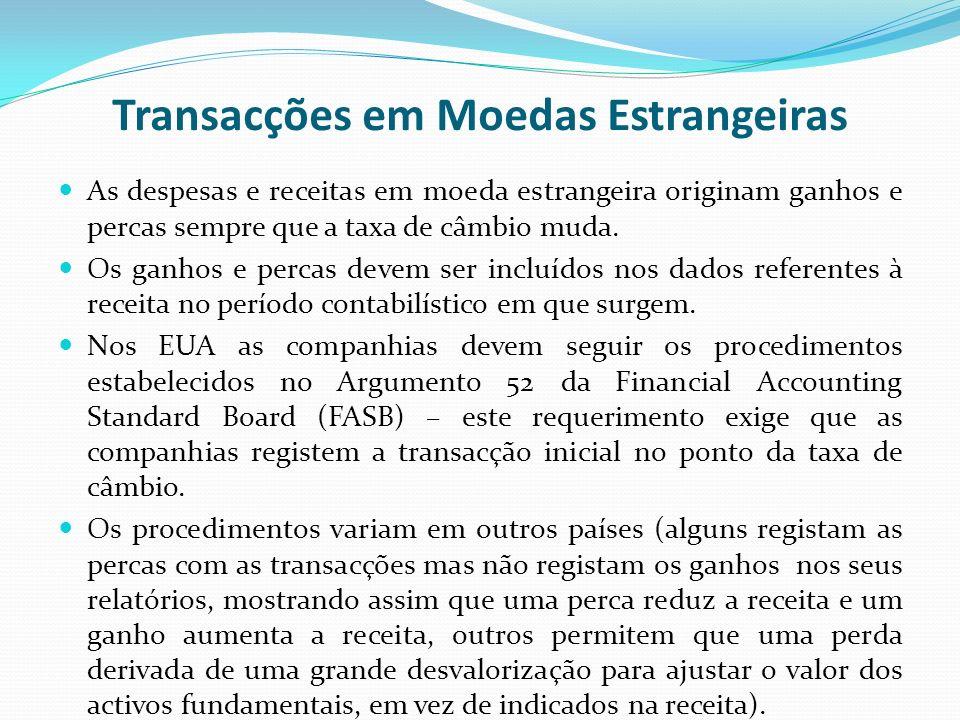 Transacções em Moedas Estrangeiras