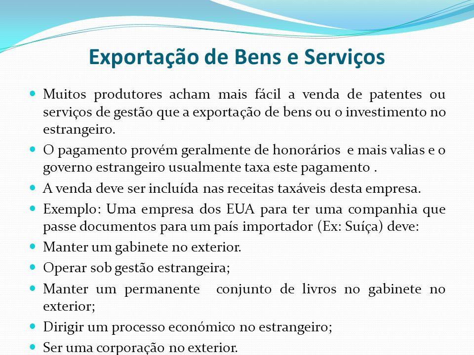 Exportação de Bens e Serviços