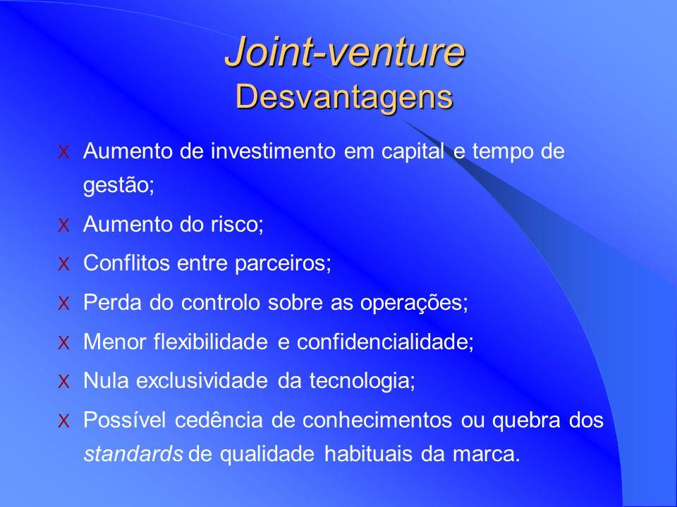 Joint-venture Desvantagens