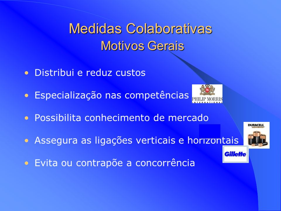 Medidas Colaborativas Motivos Gerais