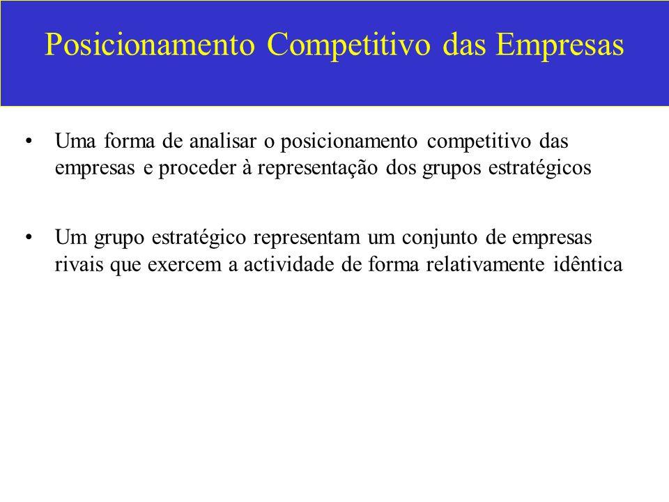 Posicionamento Competitivo das Empresas