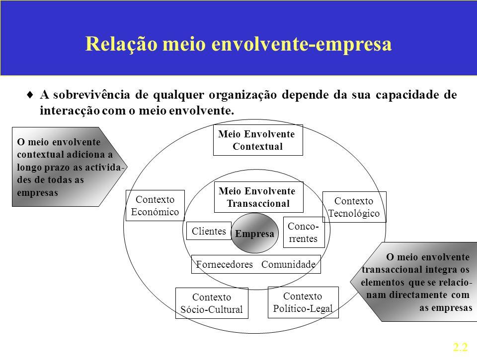 Relação meio envolvente-empresa