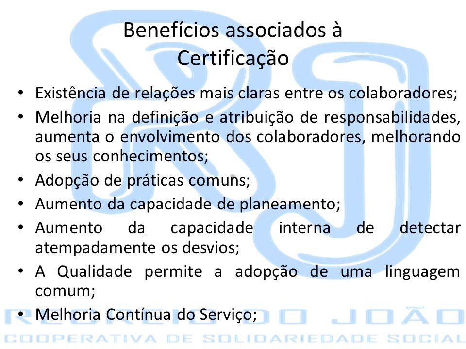 Benefícios associados à Certificação