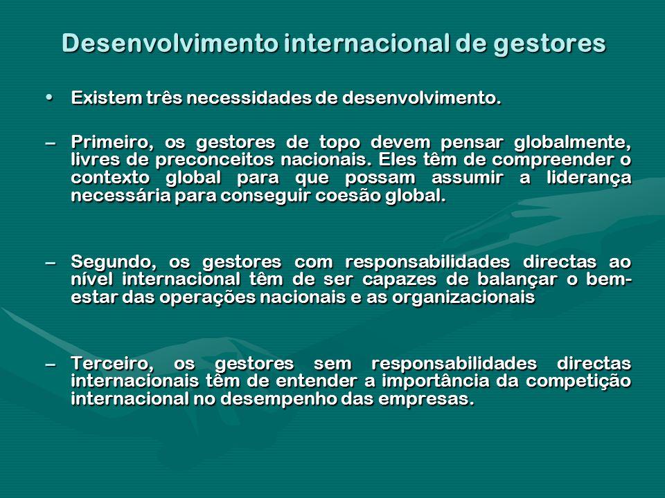 Desenvolvimento internacional de gestores
