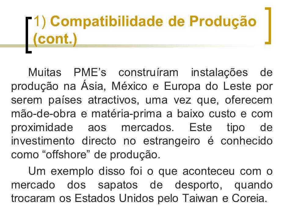 1) Compatibilidade de Produção (cont.)