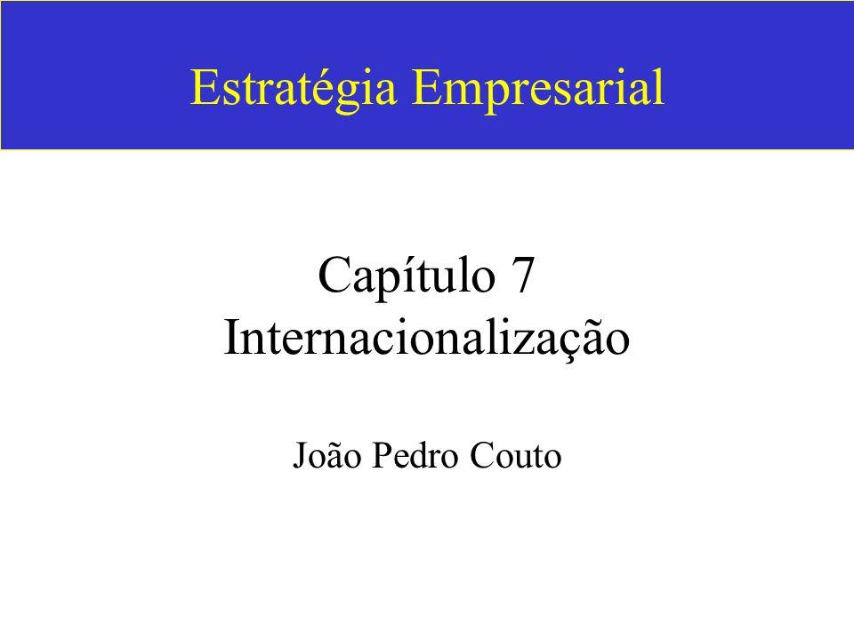 Estratégia Empresarial Capítulo 7 Internacionalização