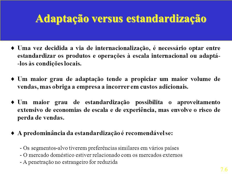 Adaptação versus estandardização