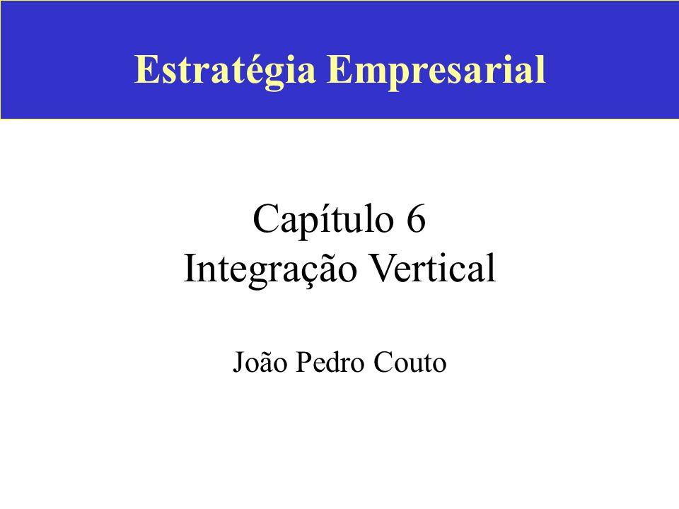 Estratégia Empresarial Capítulo 6 Integração Vertical
