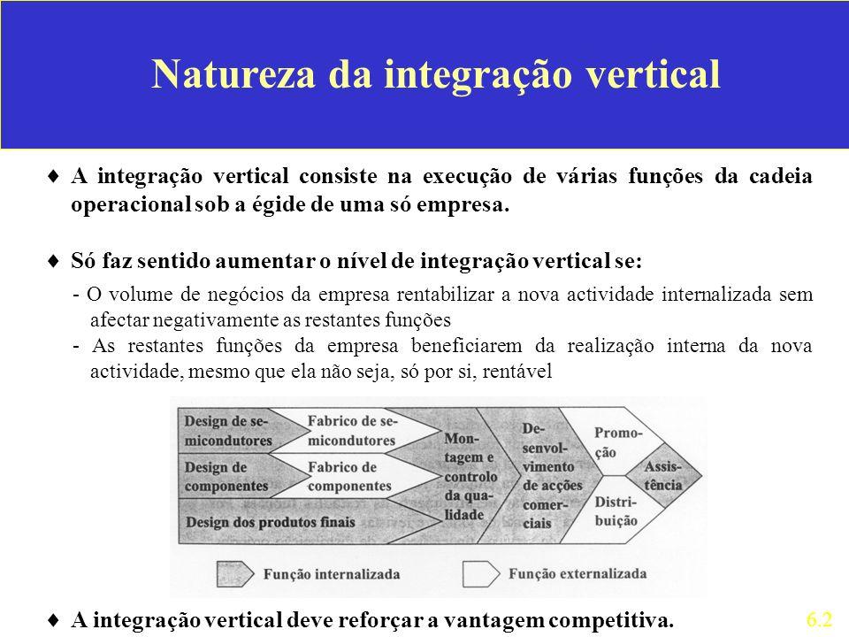 Natureza da integração vertical