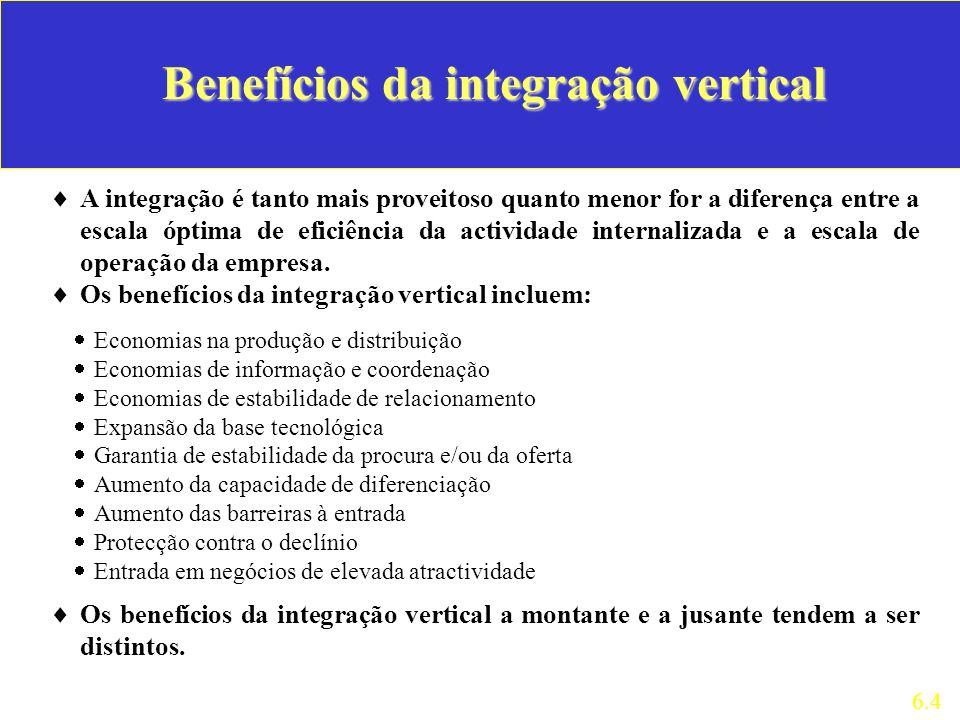 Benefícios da integração vertical