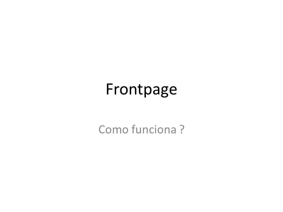 Frontpage Como funciona