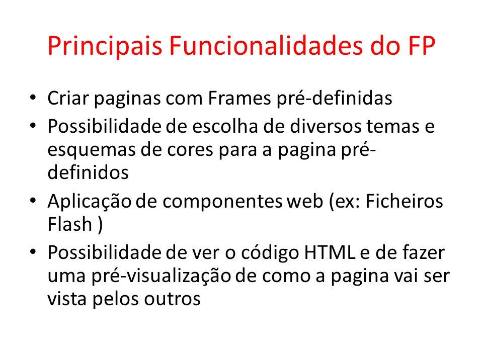 Principais Funcionalidades do FP